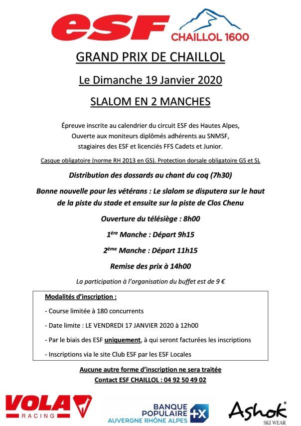 AFFICHE GRAND PRIX DE CHAILLOL 2020