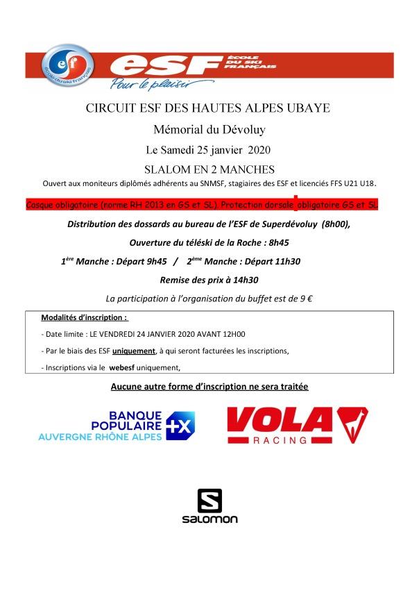 Affiche Grand prix ESF Dévoluy